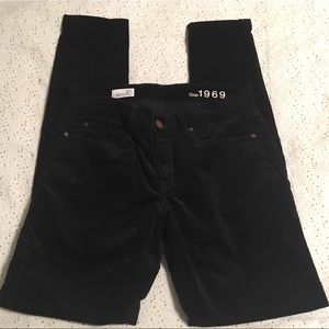 Gap Black Skinny Cords, Size 27r